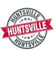 Huntsville red round grunge vintage ribbon stamp vector image vector image