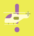 icon in flat design helicopter vector image vector image