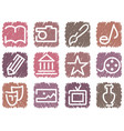 icons arts vector image vector image