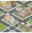 Isometric City Cityscape Buildings Houses vector image vector image
