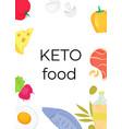keto food vertical banner ketogenic diet concept vector image vector image