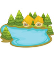 Lake house vector | Price: 3 Credits (USD $3)