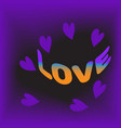 love and valentine dayviolet vector image vector image