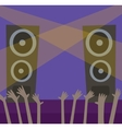Music scene background vector image vector image