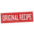 original recipe grunge rubber stamp vector image vector image