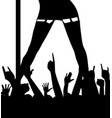 pole dancer and audience vector image vector image