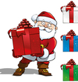 Santa with Big Gift vector image vector image