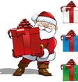 Santa with Big Gift vector image