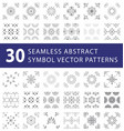 seamless symbol pattern swatches pack vector image vector image