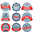 Set of retro vintage banner badges vector image
