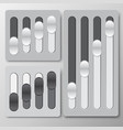 slider control black and white 3d vector image vector image