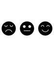 smiley sad neutral face feedback satisfaction vector image