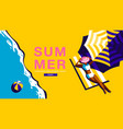 summer holiday poster banner sunshine vector image vector image