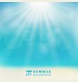 summer season seascape with sky sunlight bokeh vector image vector image