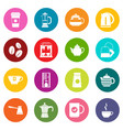 tea and coffee icons many colors set vector image vector image