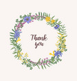 thank you lettering written with cursive font vector image vector image