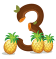 Three pineapples vector image vector image