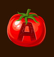 tomato icon for slot game vector image vector image