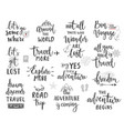 travel lettering design set vector image