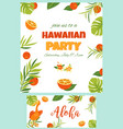 tropical hawaiian poster with pelican vector image vector image