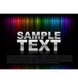 vertical lines abstract rainbow dark top text vector image