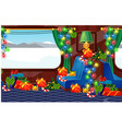 view from window a train decorated in vector image vector image