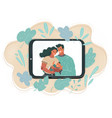 view young couple using vector image vector image