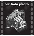 Vintage Camera Poster vector image