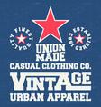 vintage denim and t shirt stamp vector image vector image