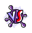 vs letters for sports and fight competition vector image vector image