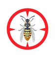 wasp - warning sign isolated on white background vector image