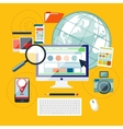Web design and development concept vector image vector image