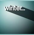 winter background shadow design vector image vector image