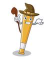 witch baseball bat character cartoon vector image vector image