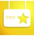 Yellow star applique background for your starlit vector image vector image