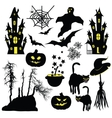 Halloween objects isolated on white background vector image