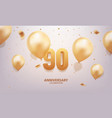 90th anniversary celebration vector image