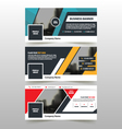 abstract triangle corporate business banner set vector image vector image