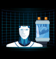 artificial intelligence technology cyborg and vector image vector image