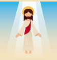 ascension of jesus christ with blue sky vector image vector image