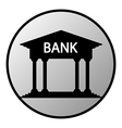 Bank button vector image vector image