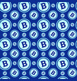 bitcoins seamless pattern crypto currency signs on vector image vector image