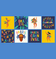 brazil carnival templates for carnival vector image vector image