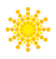 bright abstract sun with yellow-orange rays vector image vector image