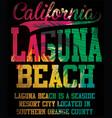california laguna beach art vector image vector image