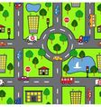 cartoon seamless pattern with bright road car vector image
