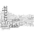 cash back credit cards are they worth it vector image vector image