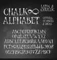 chalk grunge alphabet vector image vector image