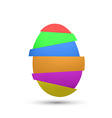 Chicken multicolored egg vector image