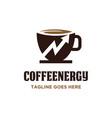 coffee energy logo vector image